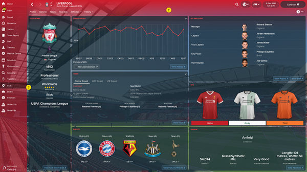 Football Manager update